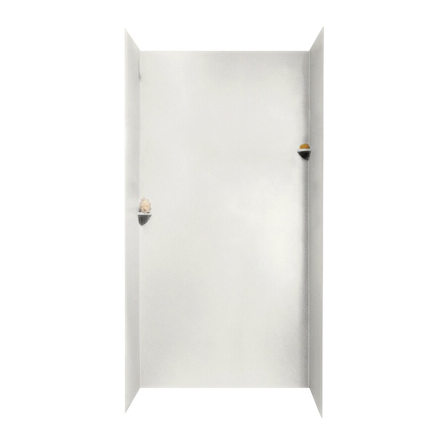 Swanstone Bisque Shower Wall Surround Side and Back Walls (Common: 48-in x 48-in; Actual: 96-in x 48-in x 48-in)