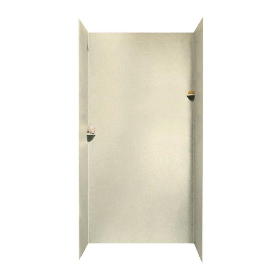 Swanstone Bone Shower Wall Surround Side and Back Walls (Common: 48-in x 48-in; Actual: 96-in x 48-in x 48-in)