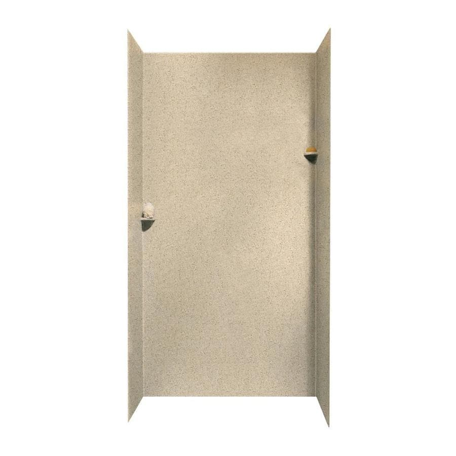 Swanstone Bermuda Sand Shower Wall Surround Side and Back Walls (Common: 48-in x 48-in; Actual: 96-in x 48-in x 48-in)