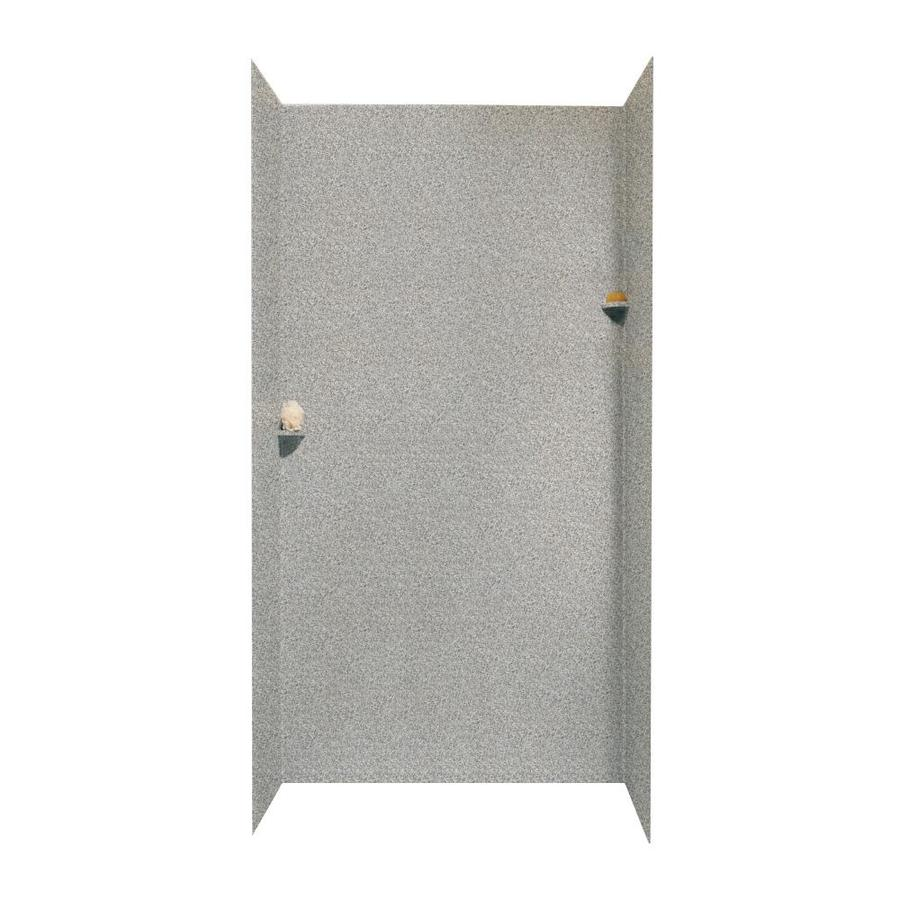 Swanstone Gray Granite Shower Wall Surround Side and Back Walls (Common: 48-in x 48-in; Actual: 96-in x 48-in x 48-in)
