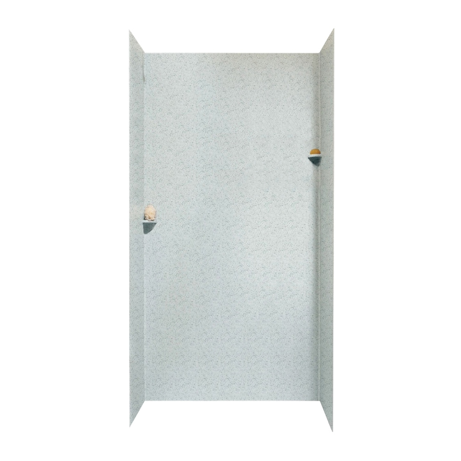 Swanstone Tahiti Gray Shower Wall Surround Side And Back Wall Kit (Common: 48-in x 48-in; Actual: 96-in x 48-in x 48-in)