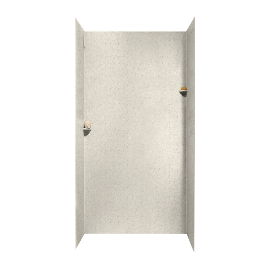Swanstone Tahiti Matrix Shower Wall Surround Side And Back Wall Kit (Common: 48-in x 48-in; Actual: 96-in x 48-in x 48-in)