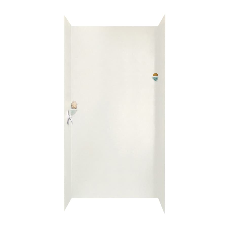 Swanstone Tahiti Ivory Shower Wall Surround Side And Back Wall Kit (Common: 48-in x 48-in; Actual: 96-in x 48-in x 48-in)