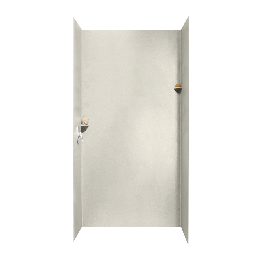 Swanstone Glacier Shower Wall Surround Side and Back Walls (Common: 48-in x 48-in; Actual: 96-in x 48-in x 48-in)
