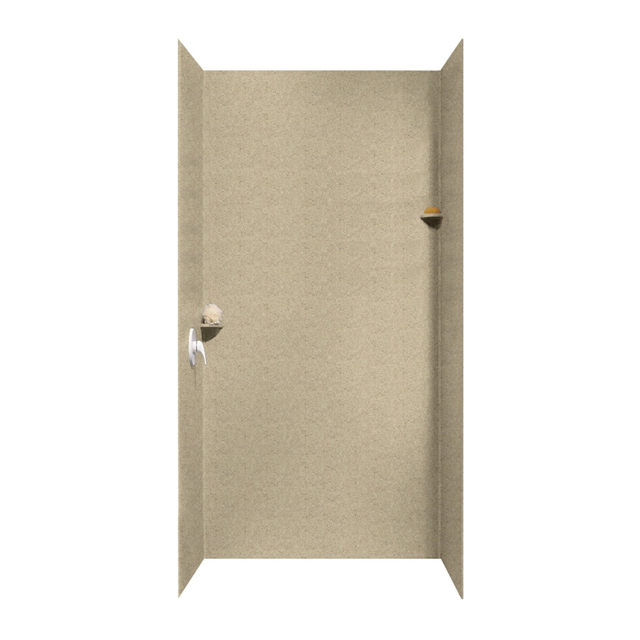 Swanstone Prairie Shower Wall Surround Side and Back Walls (Common: 48-in x 48-in; Actual: 96-in x 48-in x 48-in)