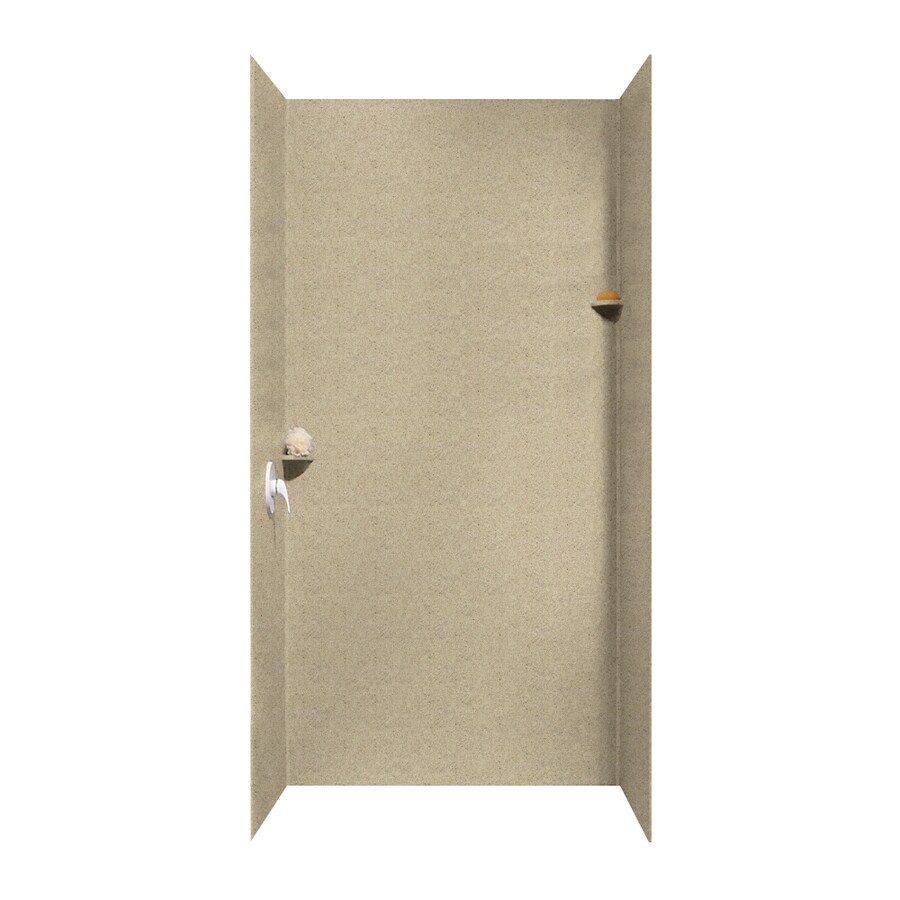 Swanstone Prairie Shower Wall Surround Side And Back Wall Kit (Common: 48-in x 48-in; Actual: 96-in x 48-in x 48-in)