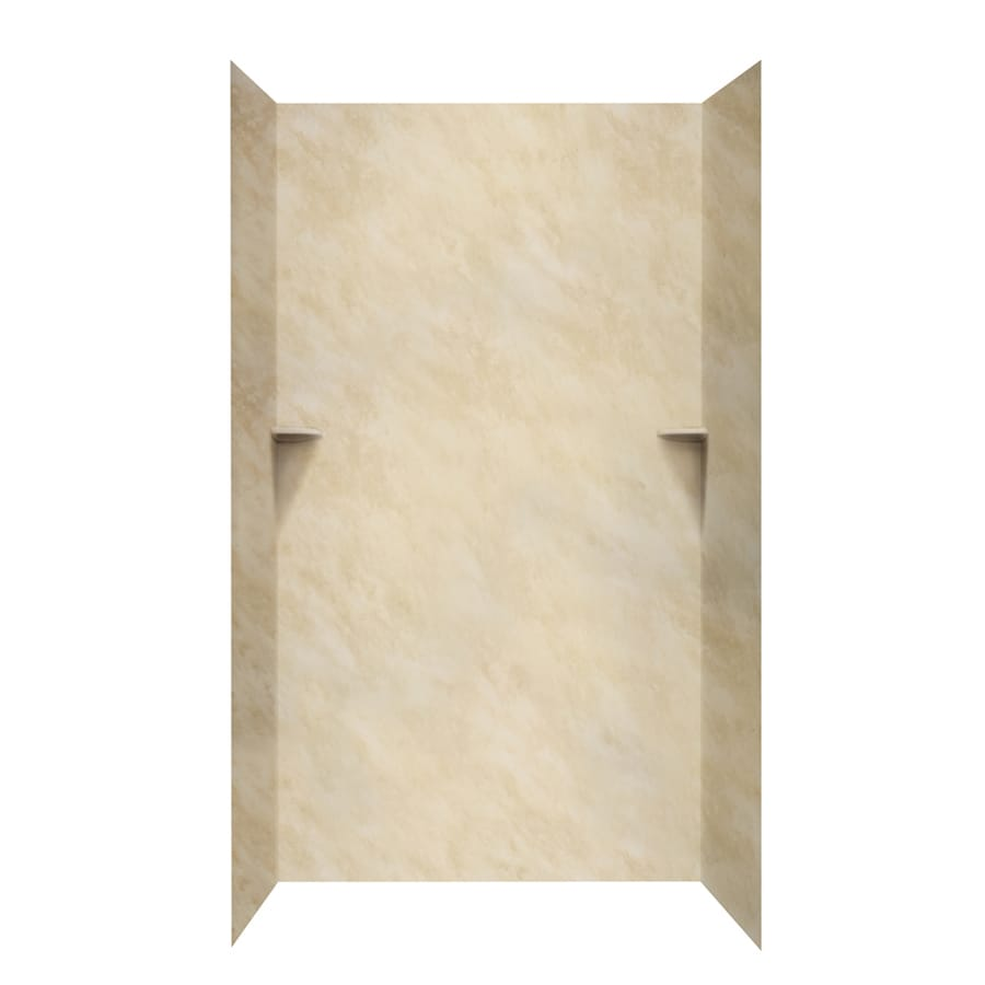 Swanstone Golden Steppe Shower Wall Surround Side and Back Wall Kit (Common: 48-in x 48-in; Actual: 96-in x 48-in x 48-in)