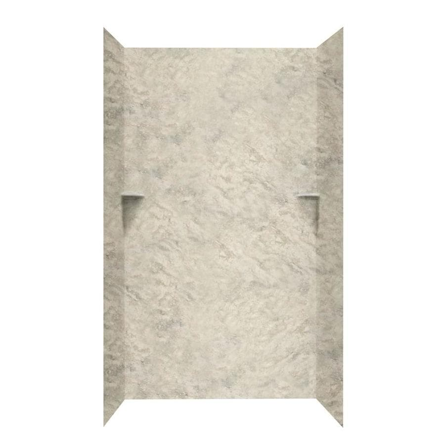 Swanstone Mountain Haze Shower Wall Surround Side and Back Walls (Common: 48-in x 48-in; Actual: 96-in x 48-in x 48-in)