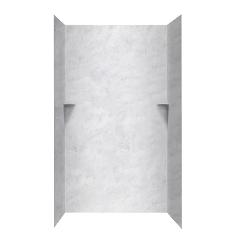 Swanstone Ice Shower Wall Surround Side and Back Walls (Common: 48-in x 48-in; Actual: 96-in x 48-in x 48-in)