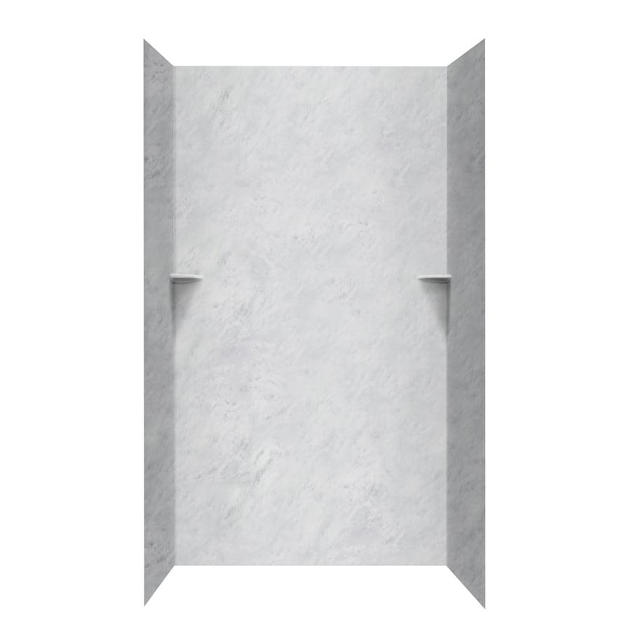Swanstone Tundra Shower Wall Surround Side and Back Walls (Common: 48-in x 48-in; Actual: 96-in x 48-in x 48-in)