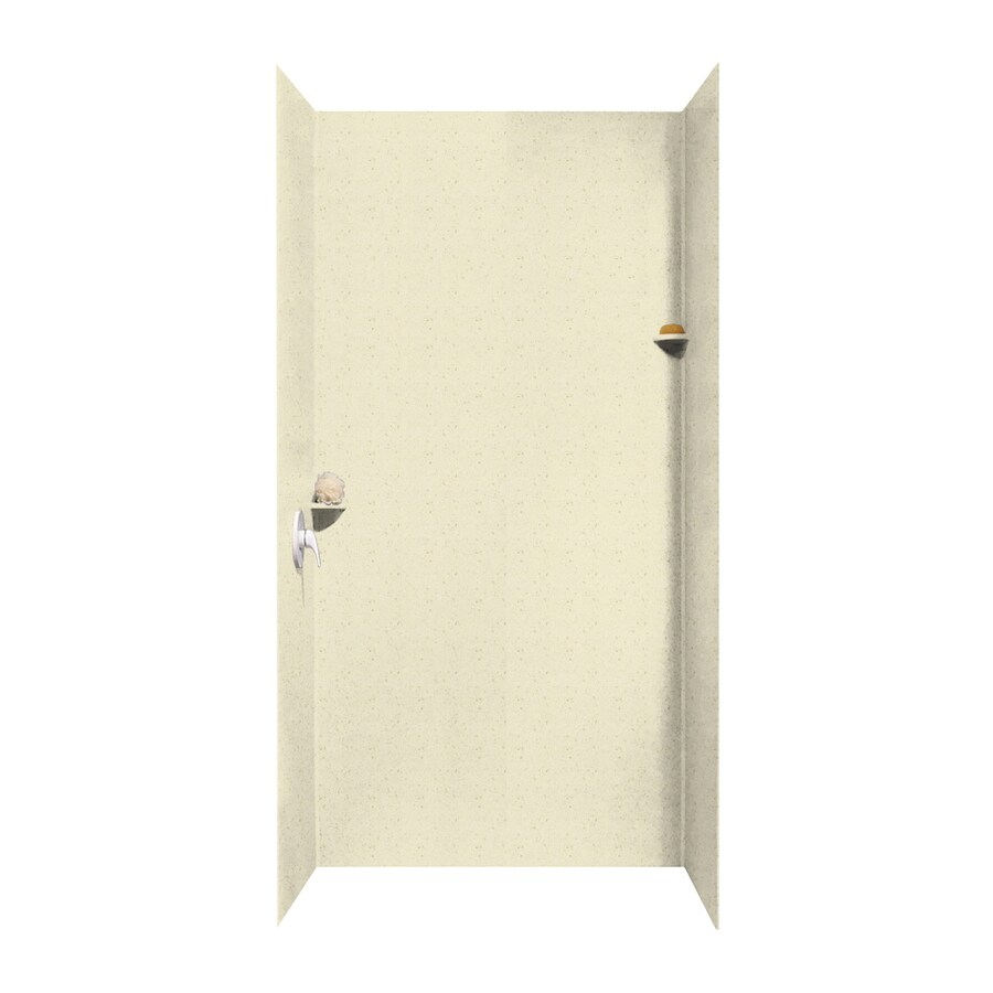 Swanstone Caraway Seed Shower Wall Surround Side and Back Wall Kit (Common: 48-in x 48-in; Actual: 96-in x 48-in x 48-in)