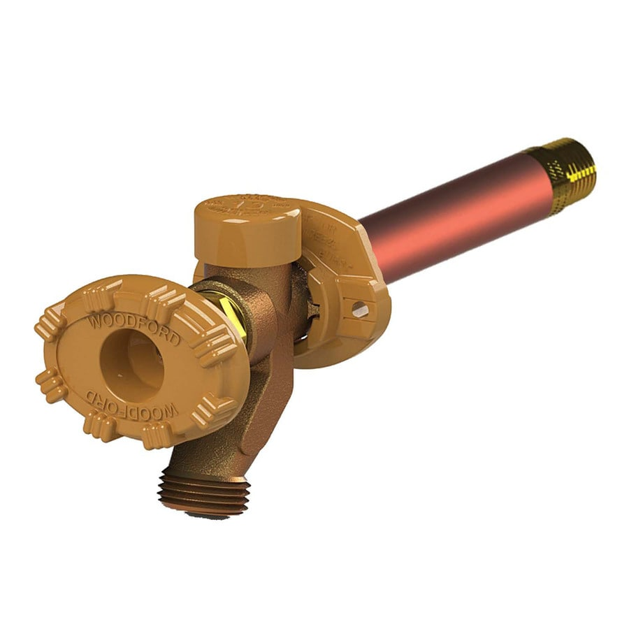 Woodford Model 19 4-in L x 1/2-in Copper Sweat Brass Anti-Siphon Multi Turn Sillcock
