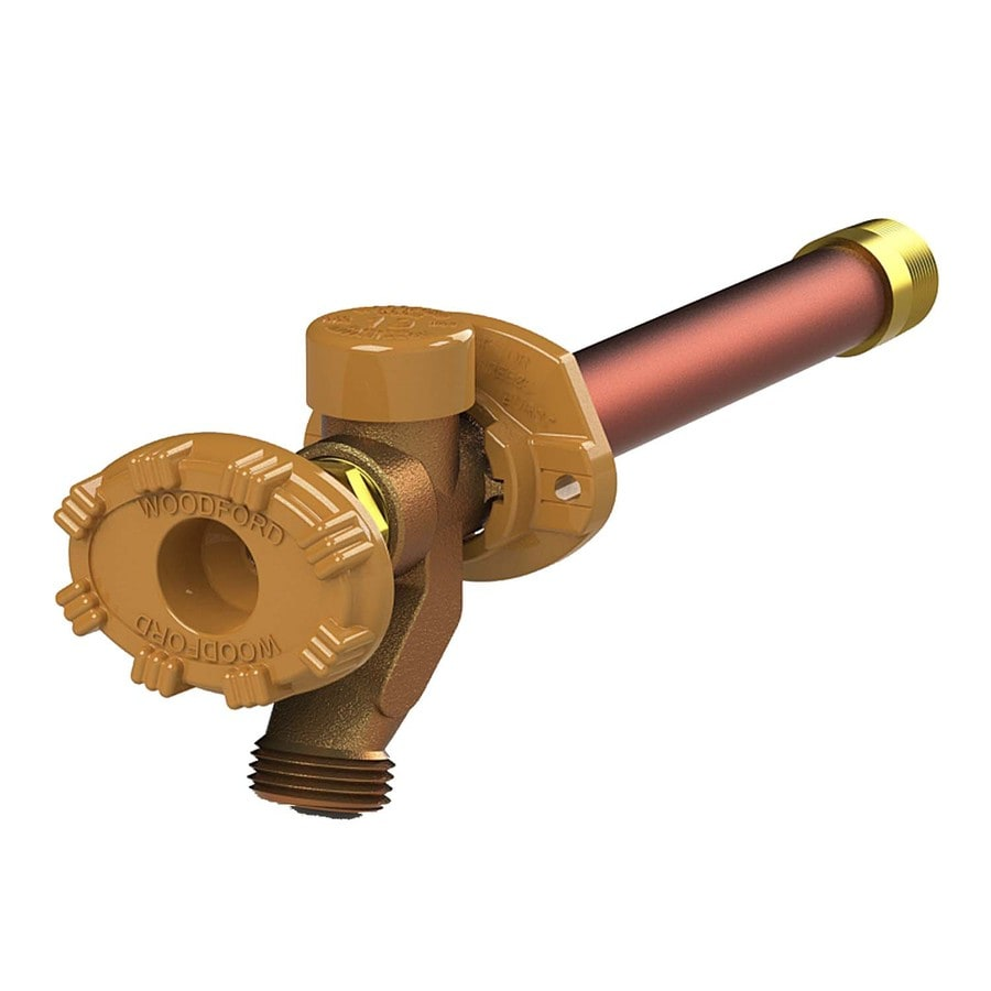 Woodford Model 19 21.625-in L 3/4-in Dual Pattern Brass Anti-Siphon Multi Turn Sillcock