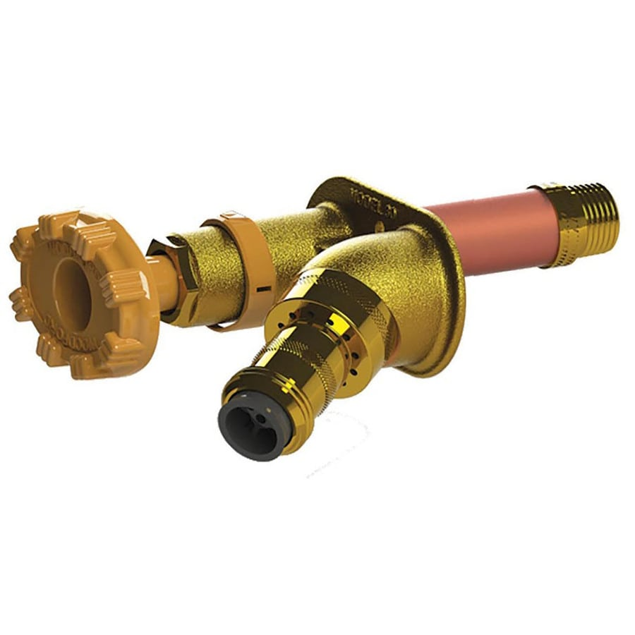 Woodford 14-in L 1/2-in Dual Pattern Brass Anti-Siphon Multi Turn Sillcock Valve