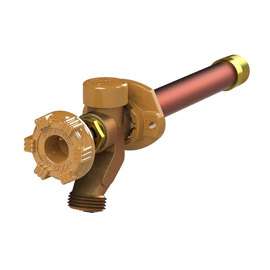 Woodford 14-in L 3/4-in Dual Pattern Brass Frost Proof Sillcock Valve