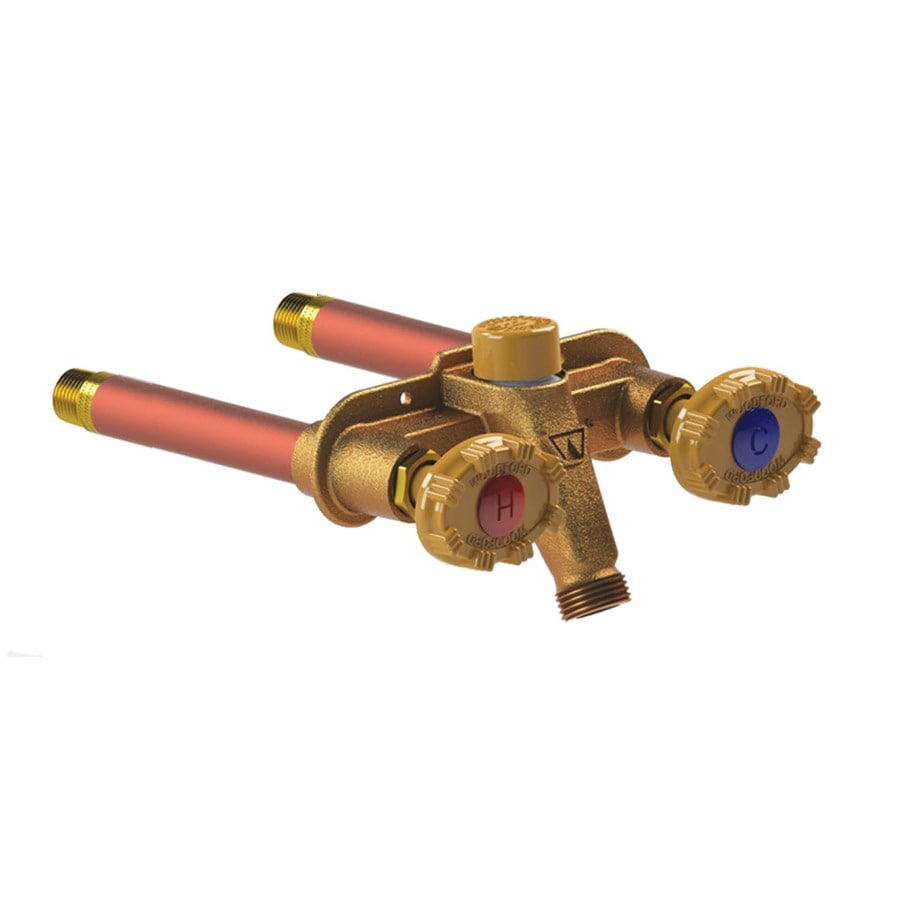 Woodford Model 22 Hot and Cold 4-in L x 1/2-in Copper Sweat Brass Anti-Siphon Multi Turn Sillcock