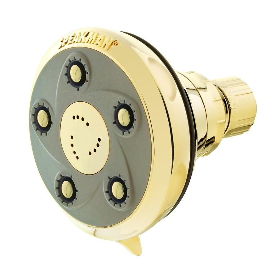 Speakman Napa 3.5-in 2.5-GPM (9.5 Lpm) Polished Brass 3-Spray Showerhead