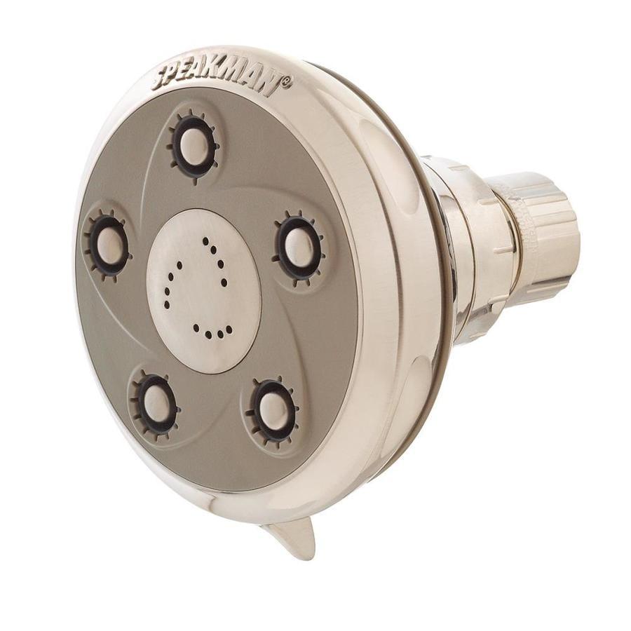 Speakman Napa 3.5-in 2.0-GPM (7.6-LPM) Brushed Nickel 3-Spray WaterSense Showerhead