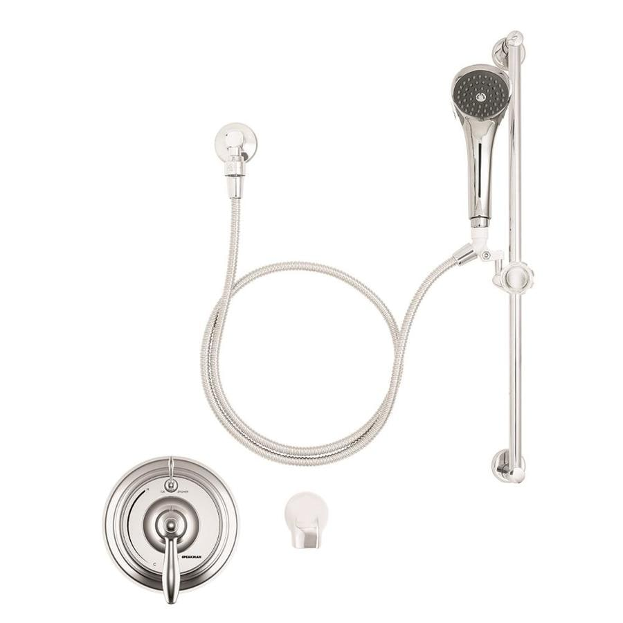 Speakman SentinelPro Polished Chrome 1-Handle Commercial Bathtub and Shower Faucet with Valve