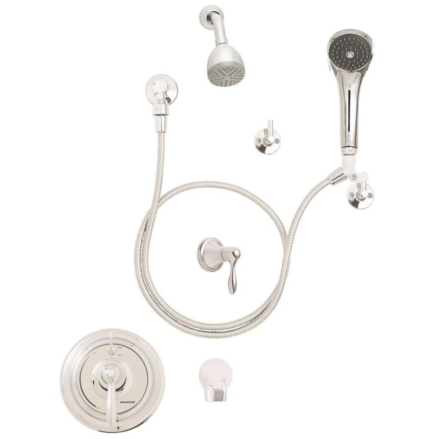Speakman SentinelPro Polished Chrome 1-Handle Tub and Shower Faucet with Single Function Showerhead