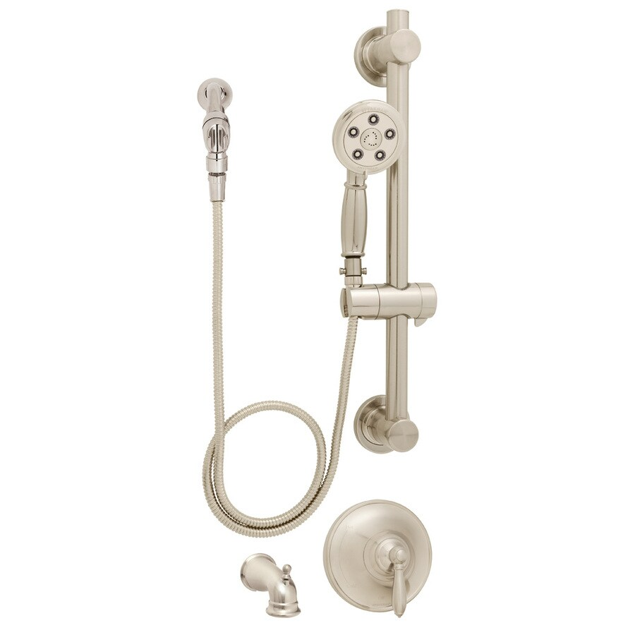 Speakman Alexandria Brushed Nickel Tub and Shower Faucet with Multi-Function Showerhead