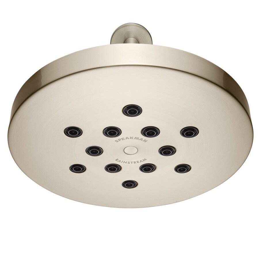 Speakman Rainstream 10-in 2.5-GPM (9.5-LPM) Brushed Nickel 1-Spray Rain Showerhead