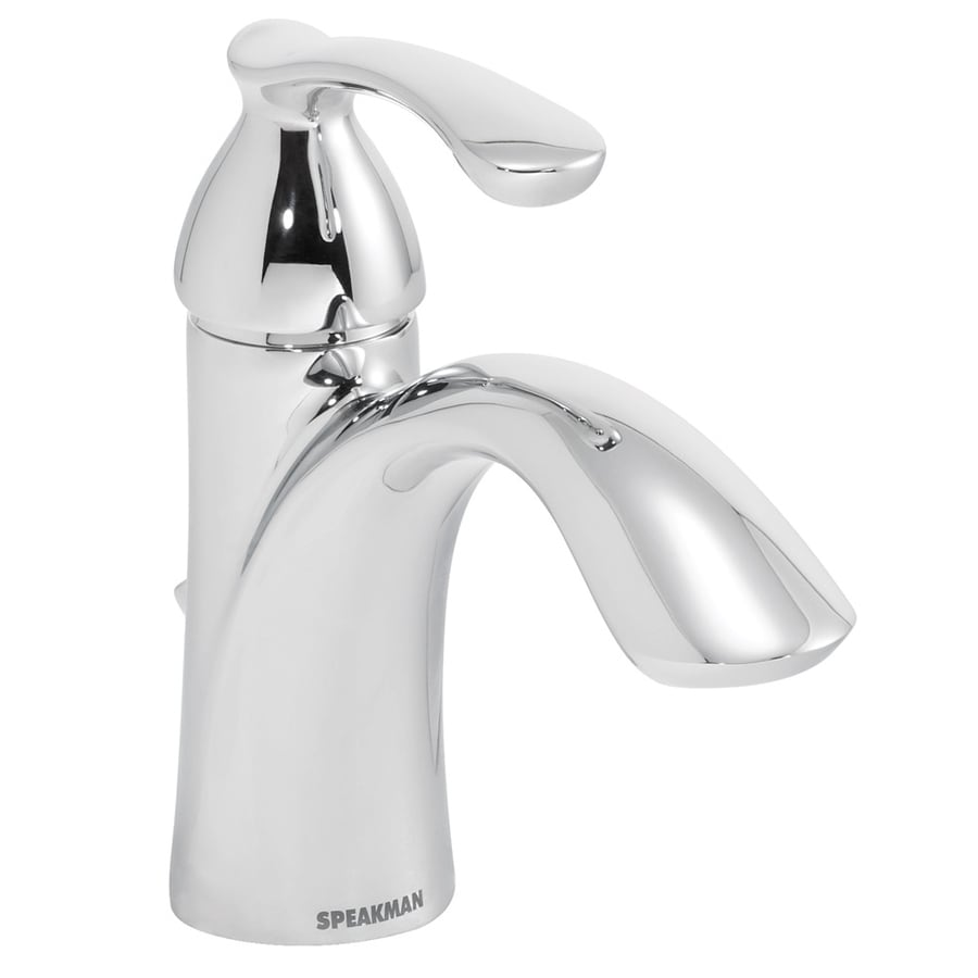 Speakman Lana Polished Chrome 1-Handle Single Hole WaterSense Bathroom Faucet (Drain Included)