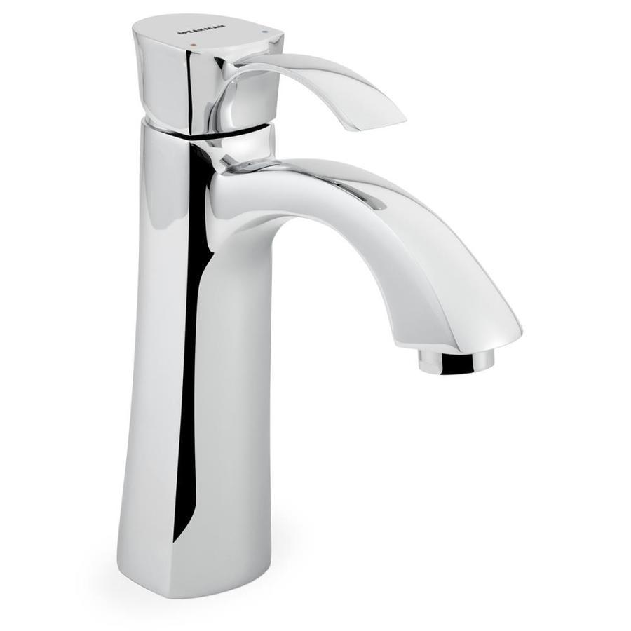 Speakman Tiber Polished Chrome 1-Handle Single Hole WaterSense Bathroom Faucet (Drain Included)