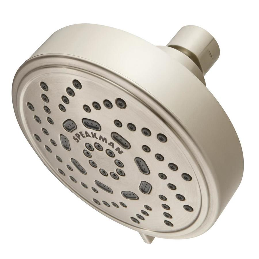 Speakman Echo 4.38-in 2.0-GPM (7.6-LPM) Brushed Nickel 3-Spray WaterSense Showerhead