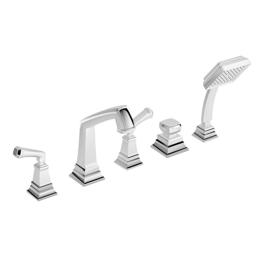 Symmons Oxford Chrome 2-Handle Adjustable Deck Mount Tub Faucet