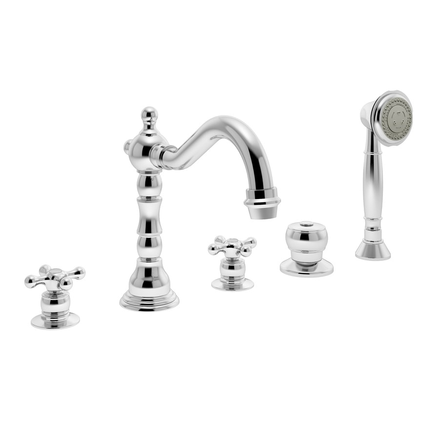 Symmons Carrington Chrome 2-Handle Fixed Deck Mount Tub Faucet