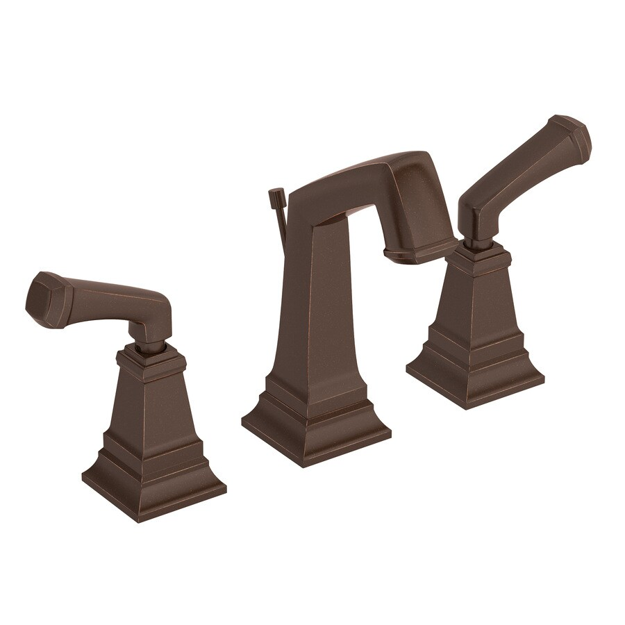 Symmons Oxford Oil-Rubbed bronze 2-handle Widespread Commercial Bathroom Faucet