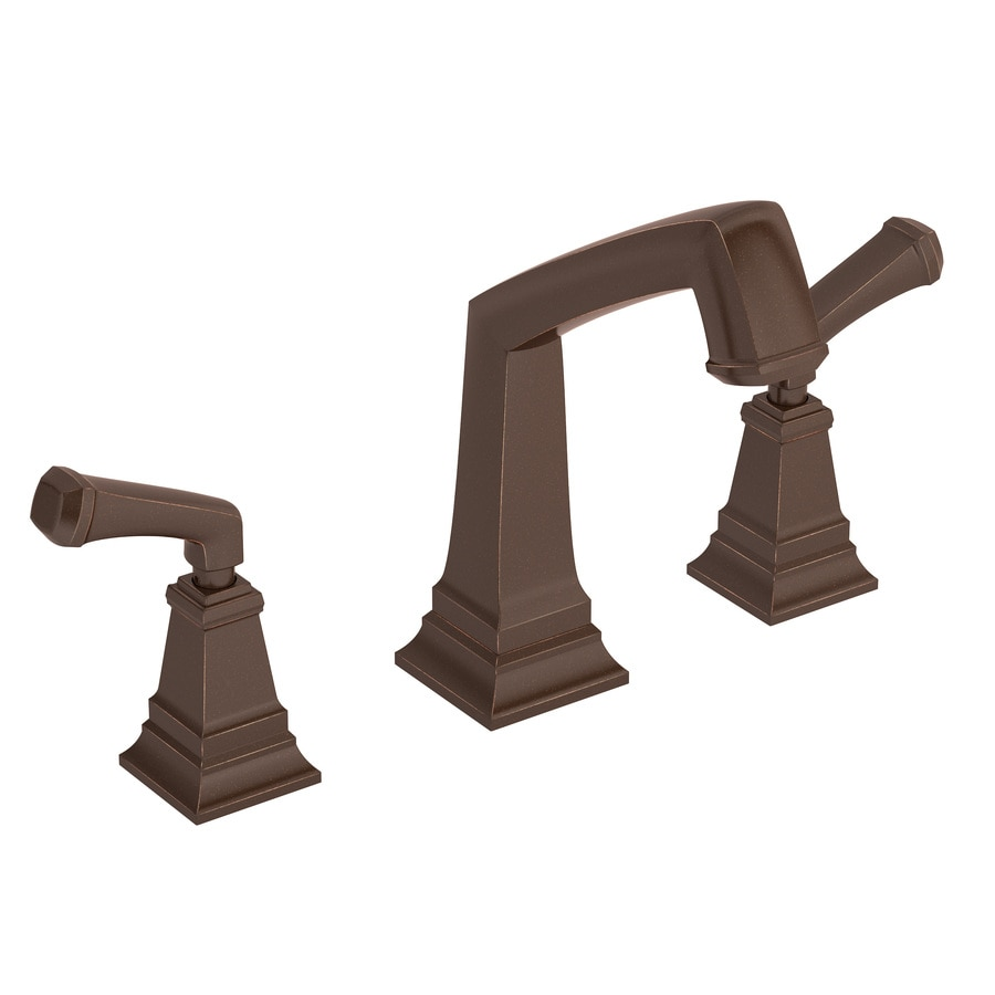 Symmons Oxford Oil-Rubbed Bronze 2-Handle Adjustable Deck Mount Tub Faucet