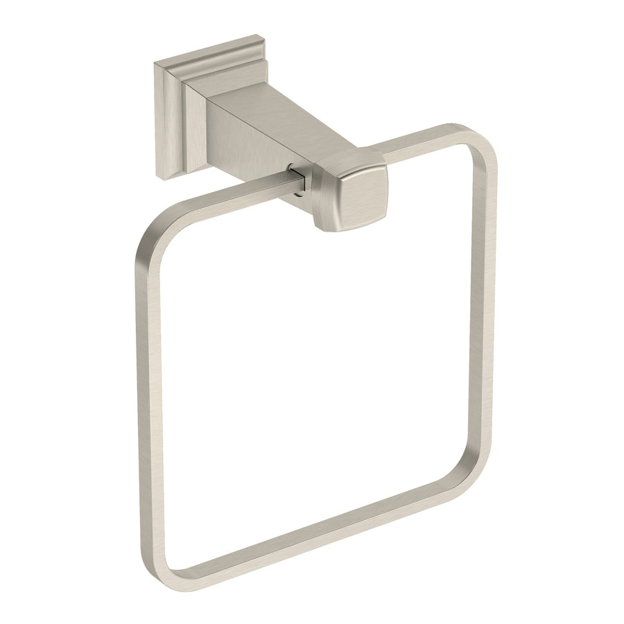 Symmons Oxford Satin Nickel Wall Mount Towel Ring