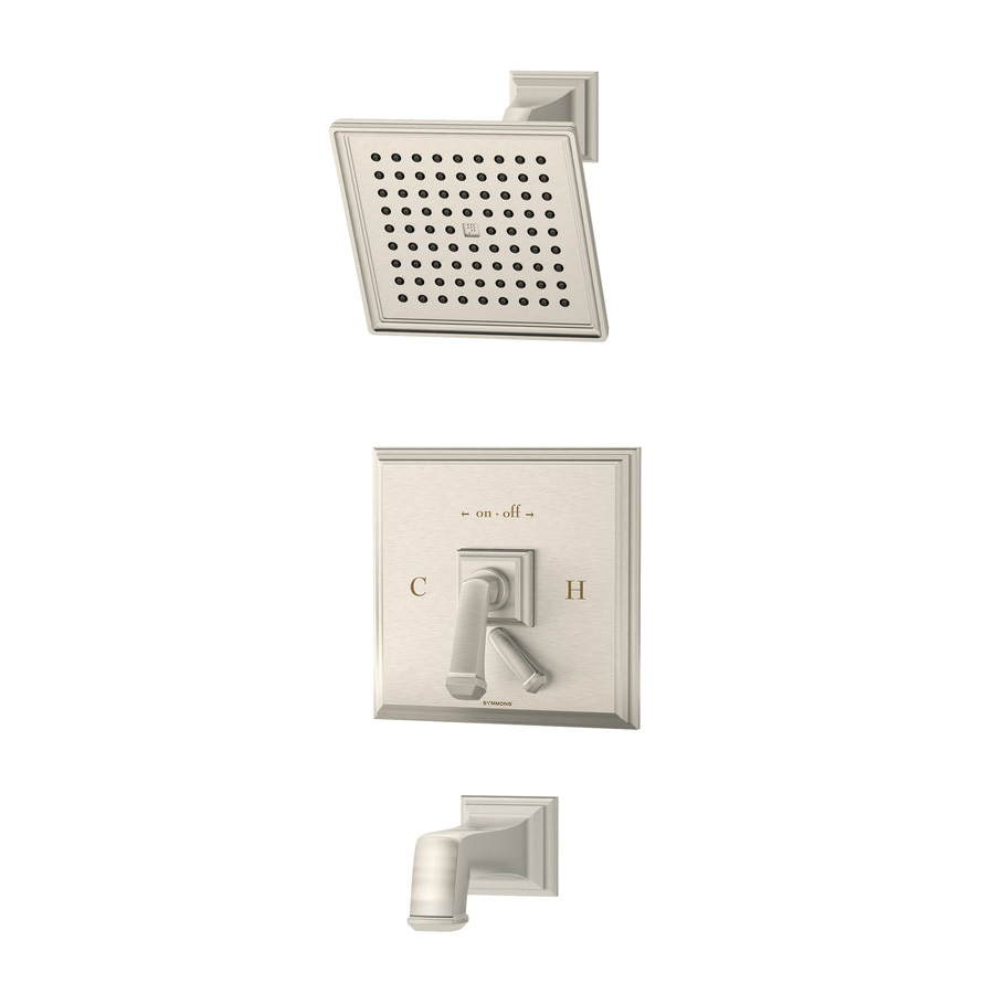 Symmons Oxford Satin Nickel 1-handle Commercial Bathtub And Shower Faucet with Valve