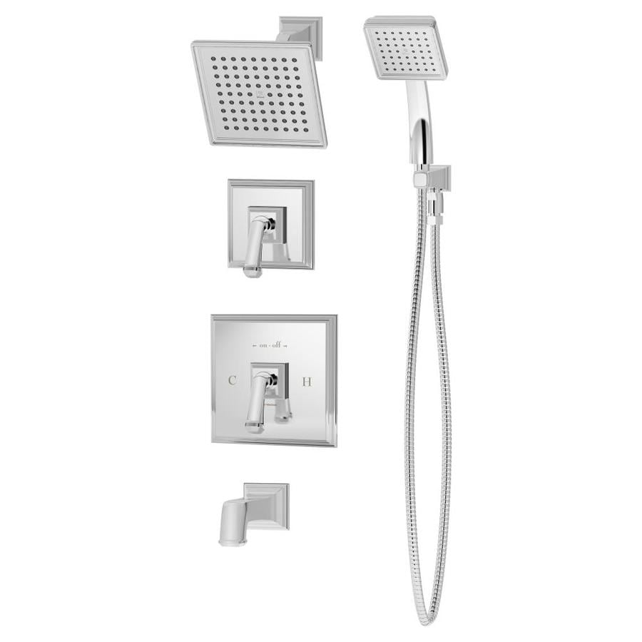 Symmons Oxford Chrome 2-Handle Bathtub and Shower Faucet with Single Function Showerhead