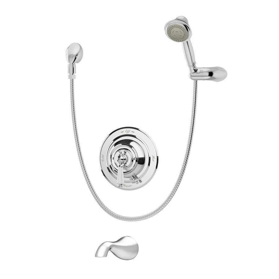 Symmons Carrington Chrome 1-Handle Commercial Bathtub and Shower Faucet with Valve