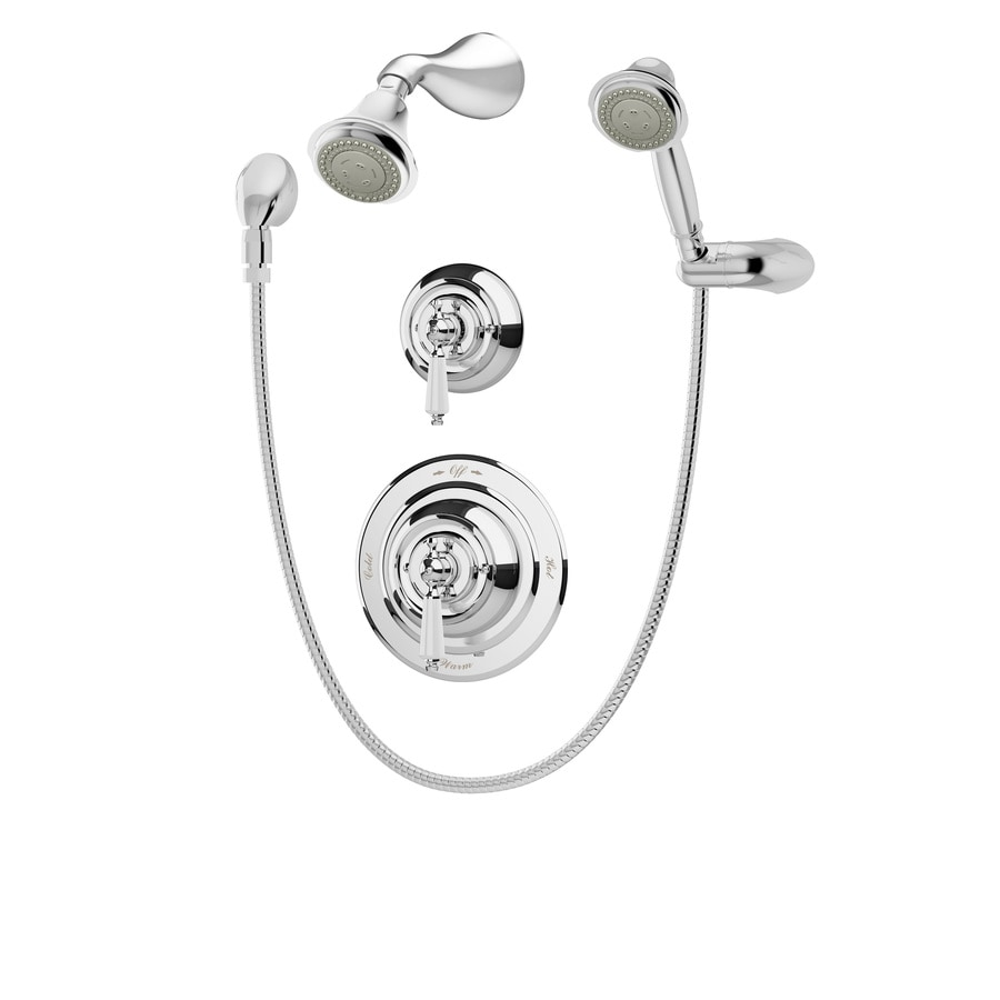 Symmons Carrington Chrome 1-Handle Shower Faucet with Multi-Function Showerhead