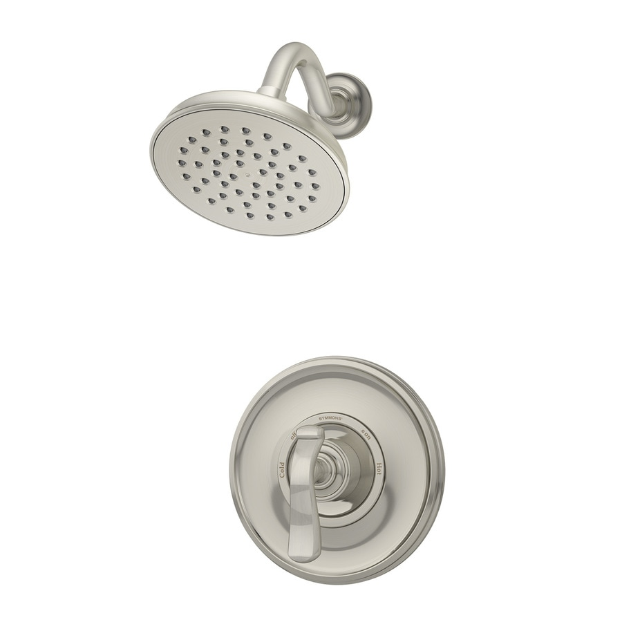 Symmons Winslet Satin Nickel 1-Handle Shower Faucet with Single Function Showerhead