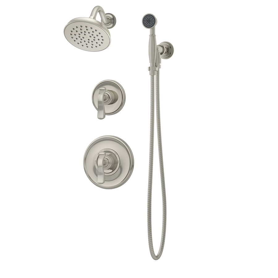 Symmons Winslet Satin Nickel 2-handle Commercial Shower Faucet with Valve