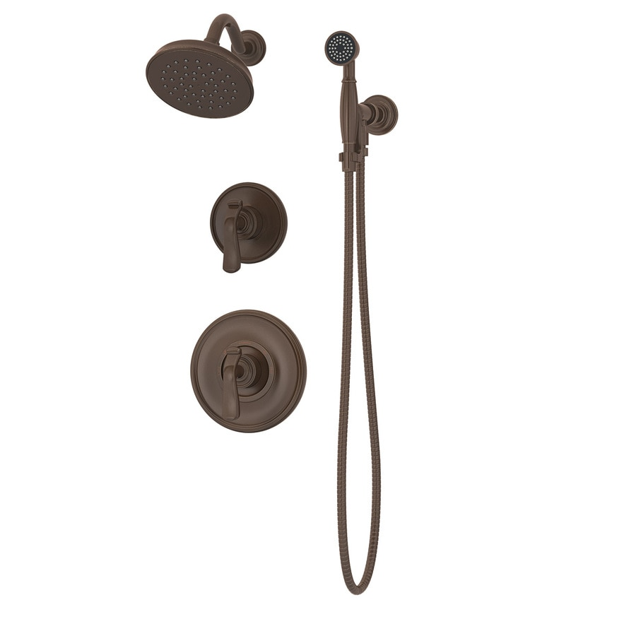 Shop Symmons Winslet Oil Rubbed Bronze 2 Handle Commercial Shower Faucet With Valve At