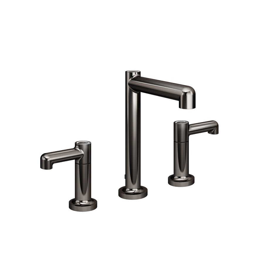 Shop Symmons Museo Polished Graphite 2 Handle Widespread Bathroom Sink Faucet Drain Included