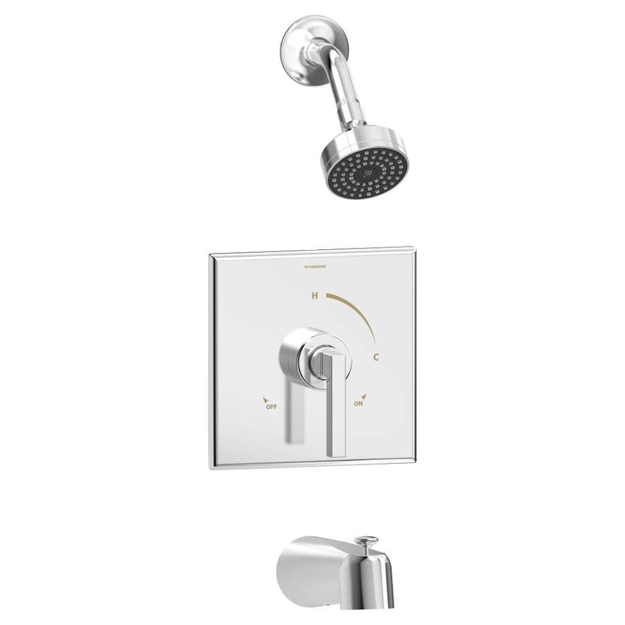 Symmons Duro Chrome 1-Handle Bathtub and Shower Faucet with Single Function Showerhead