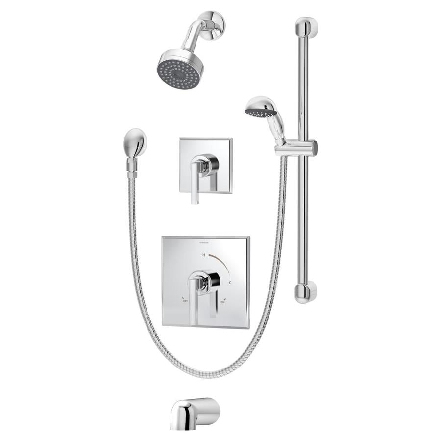 Symmons Duro Chrome 2-Handle Commercial Bathtub and Shower Faucet