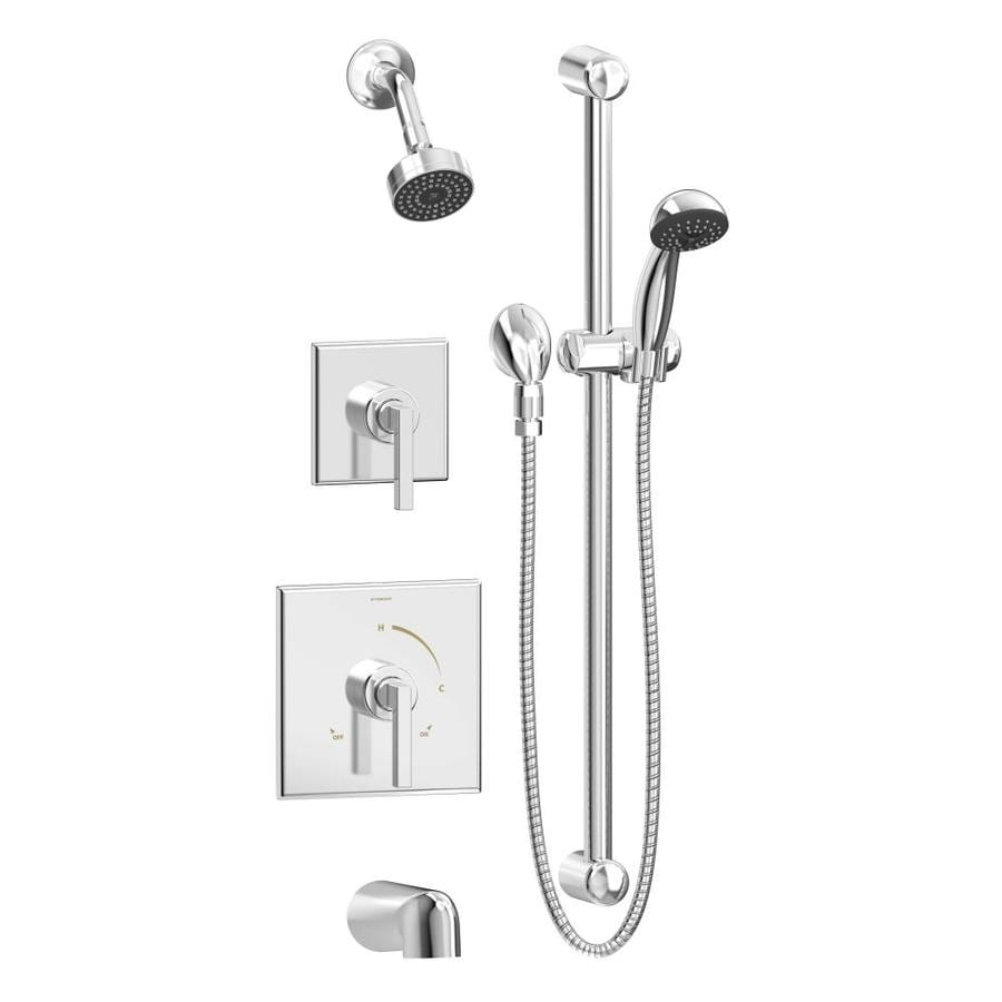 Symmons Duro Chrome 2-handle Commercial Bathtub And Shower Faucet with Valve