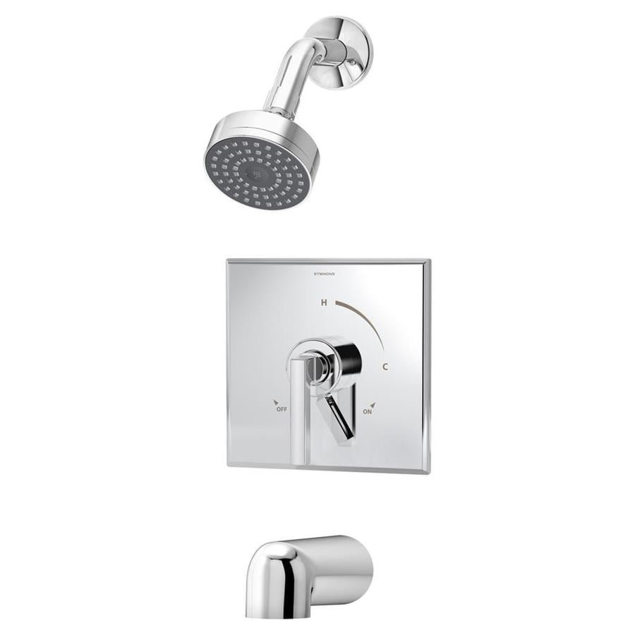 symmons duro chrome 1handle commercial bathtub and shower faucet with valve