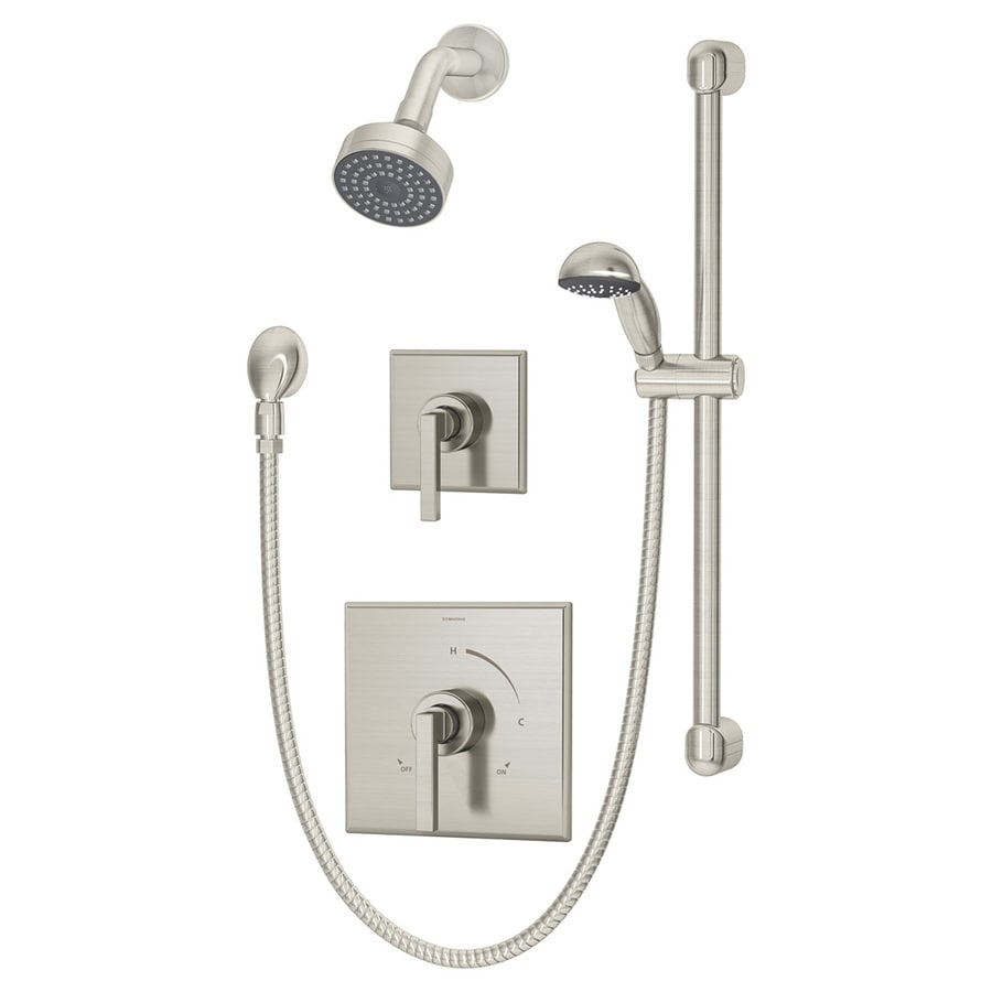 Symmons Duro Satin Nickel 2-handle Commercial Shower Faucet with Valve