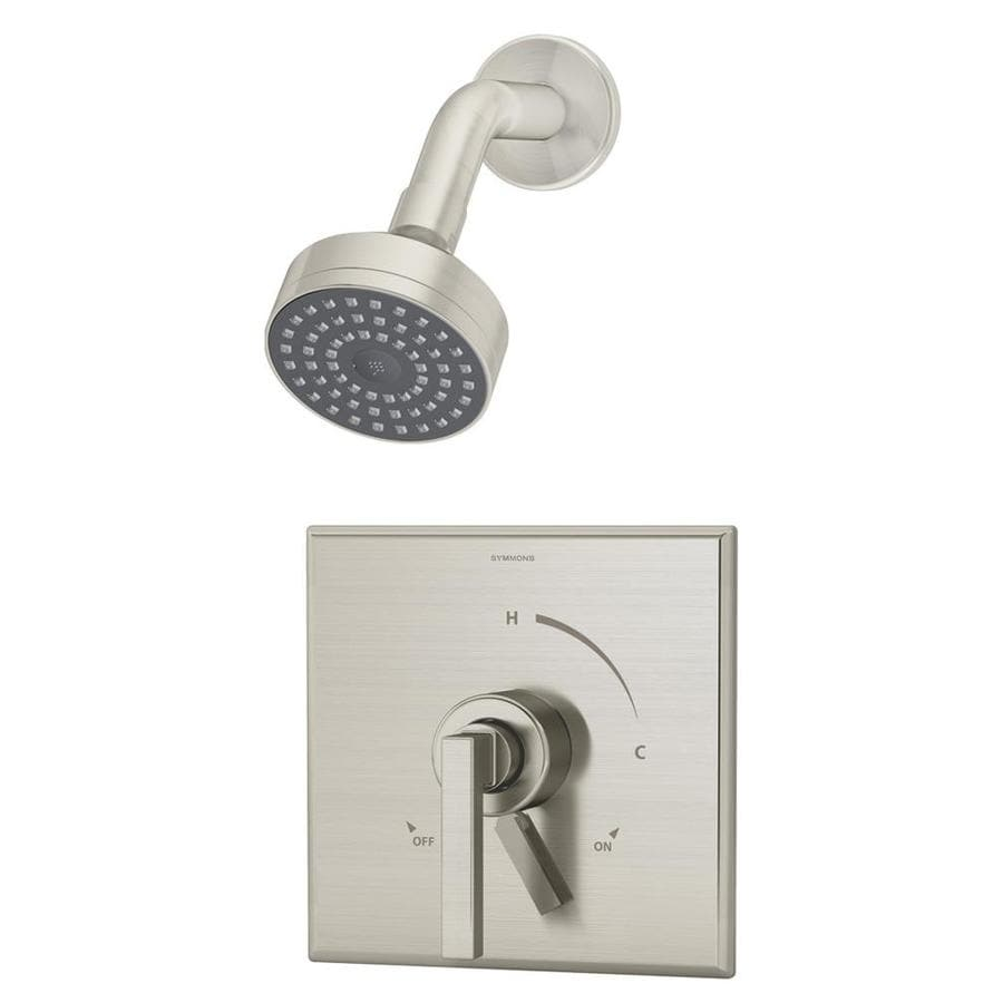 Symmons Duro Satin Nickel 1-Handle Shower Faucet with Single Function Showerhead