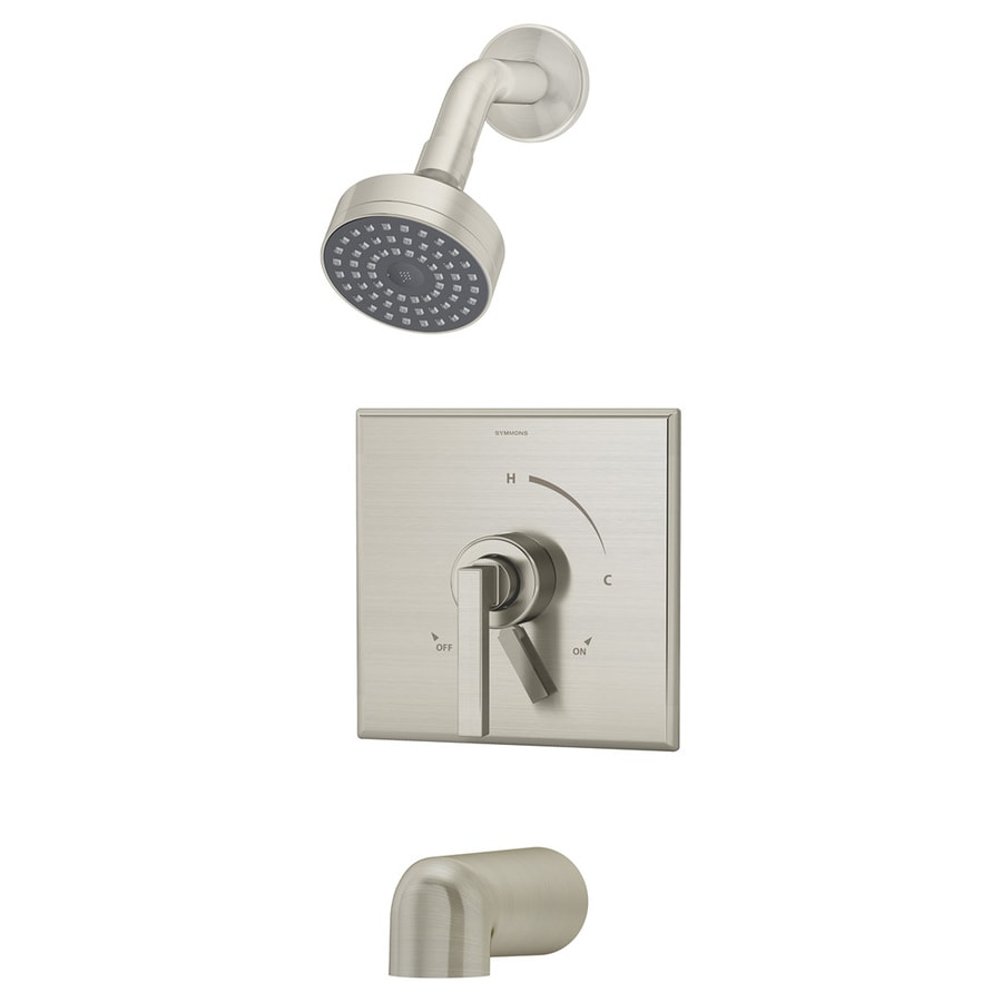 Symmons Duro Satin Nickel 1-handle Commercial Bathtub And Shower Faucet with Valve
