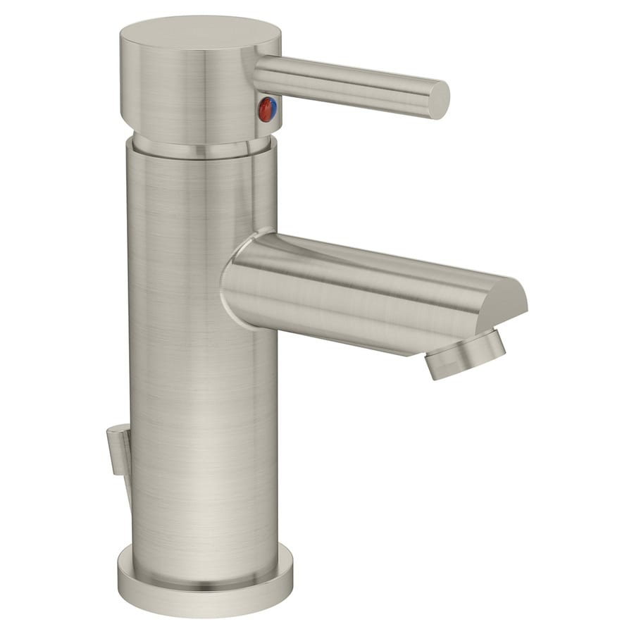 Symmons Dia Satin Nickel 1-Handle Single Hole WaterSense Bathroom Faucet (Drain Included)